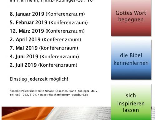 Bibelabende in der Pfarrei Herz-Jesu