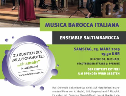 Konzert Ensemble Saltimbarocca, 23.04., 19.30 Uhr St. Michael