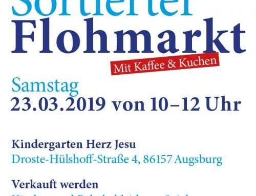 Sortierter Flohmarkt, 23.03.19, 10.00- 12.00 Uhr