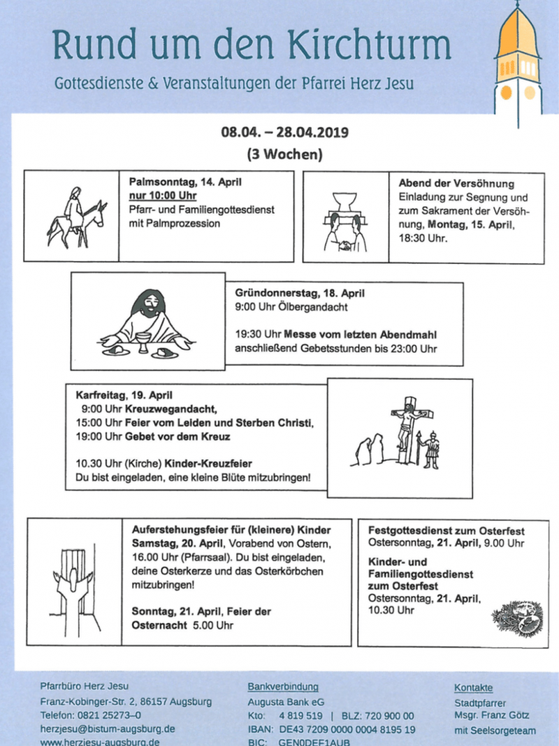 Rund Um Den Kirchturm 08.04. 28.04