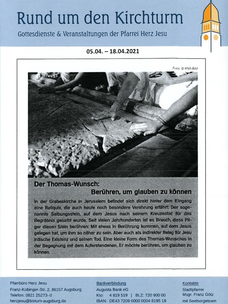 Rund Um Den Kirchturm 05.04. 18.04